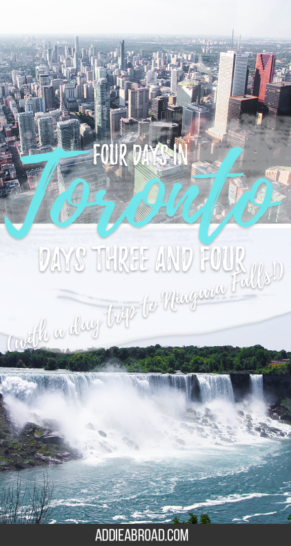The last two of our four days in Toronto went by fast - mostly because they were packed with things to do. We took a day trip to Niagara Falls, went up the CN Tower, visited Casa Loma, and explored the Toronto Islands. I can't wait to get back.