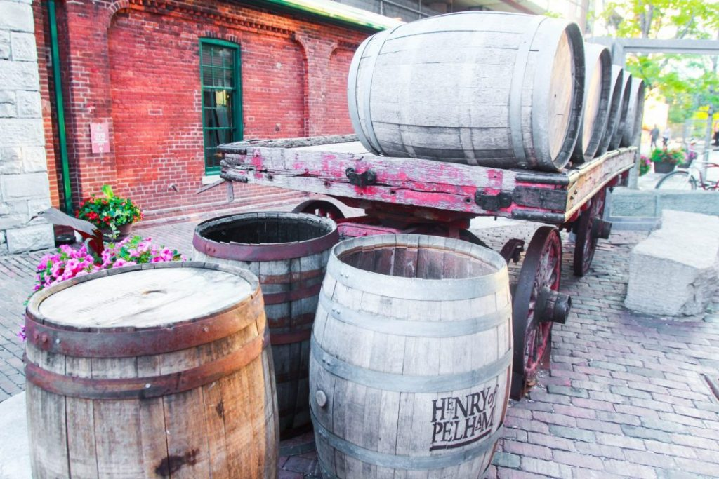 Distillery District Toronto Barrels