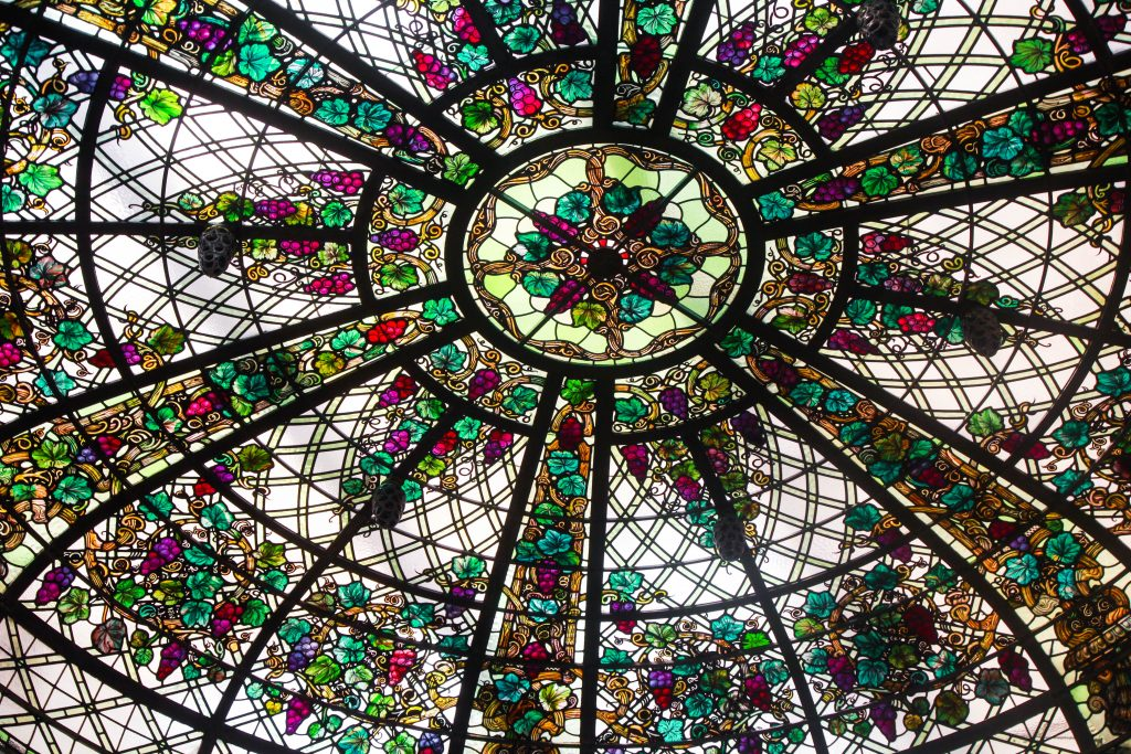 Casa Loma Stained Glass Window Ceiling Toronto