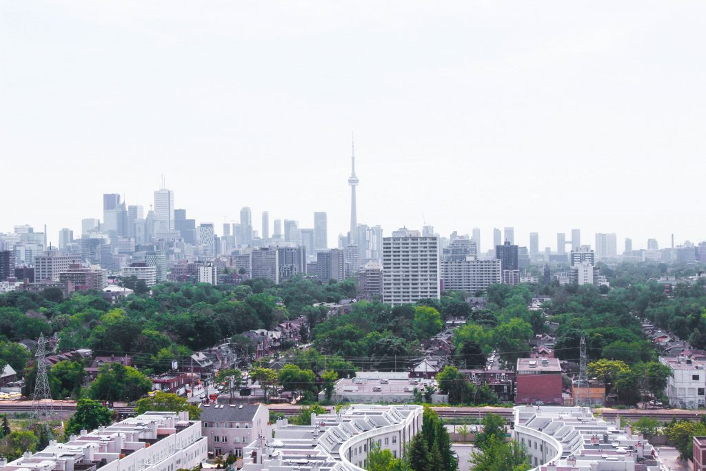 Toronto Skyline Casa Loma Tower View