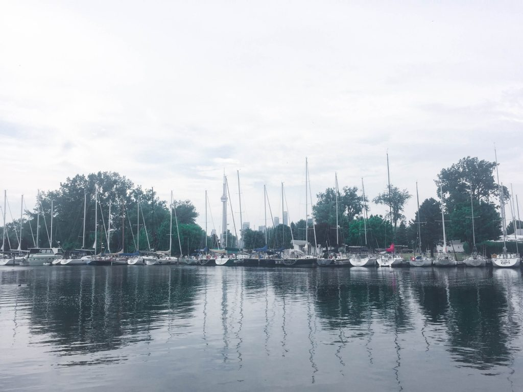 Toronto Islands Harbor Boats