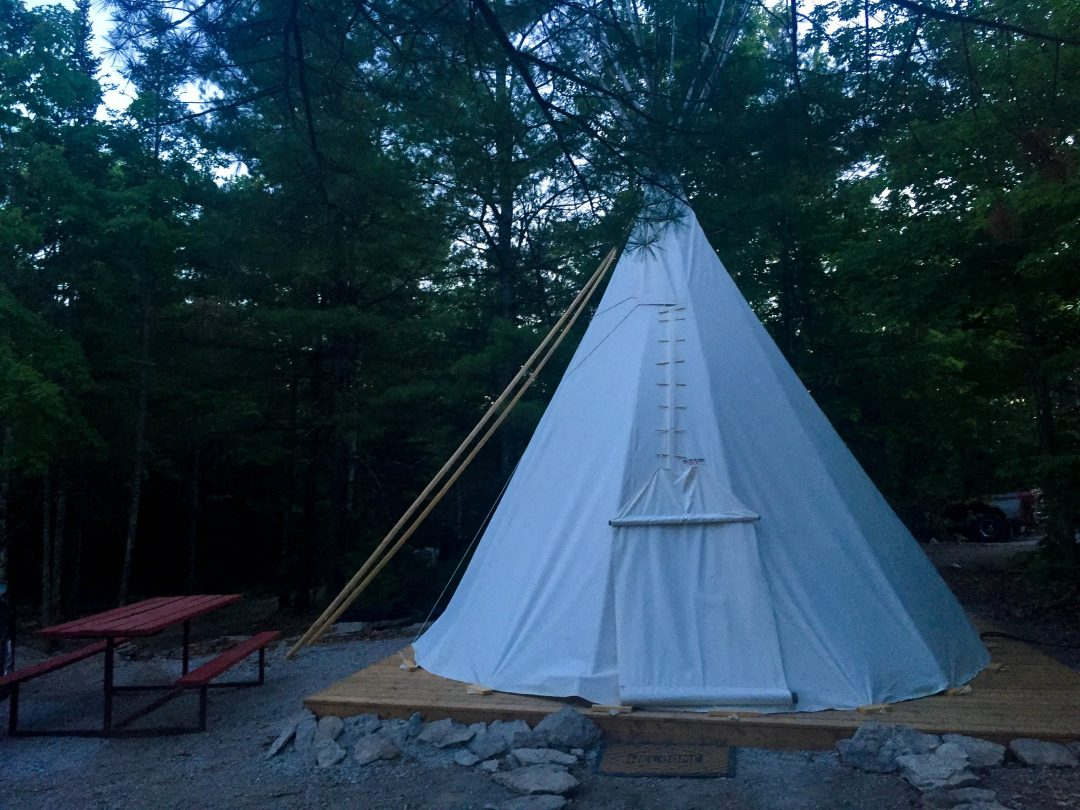 Teepee Glamping on Manitoulin Island, Canada