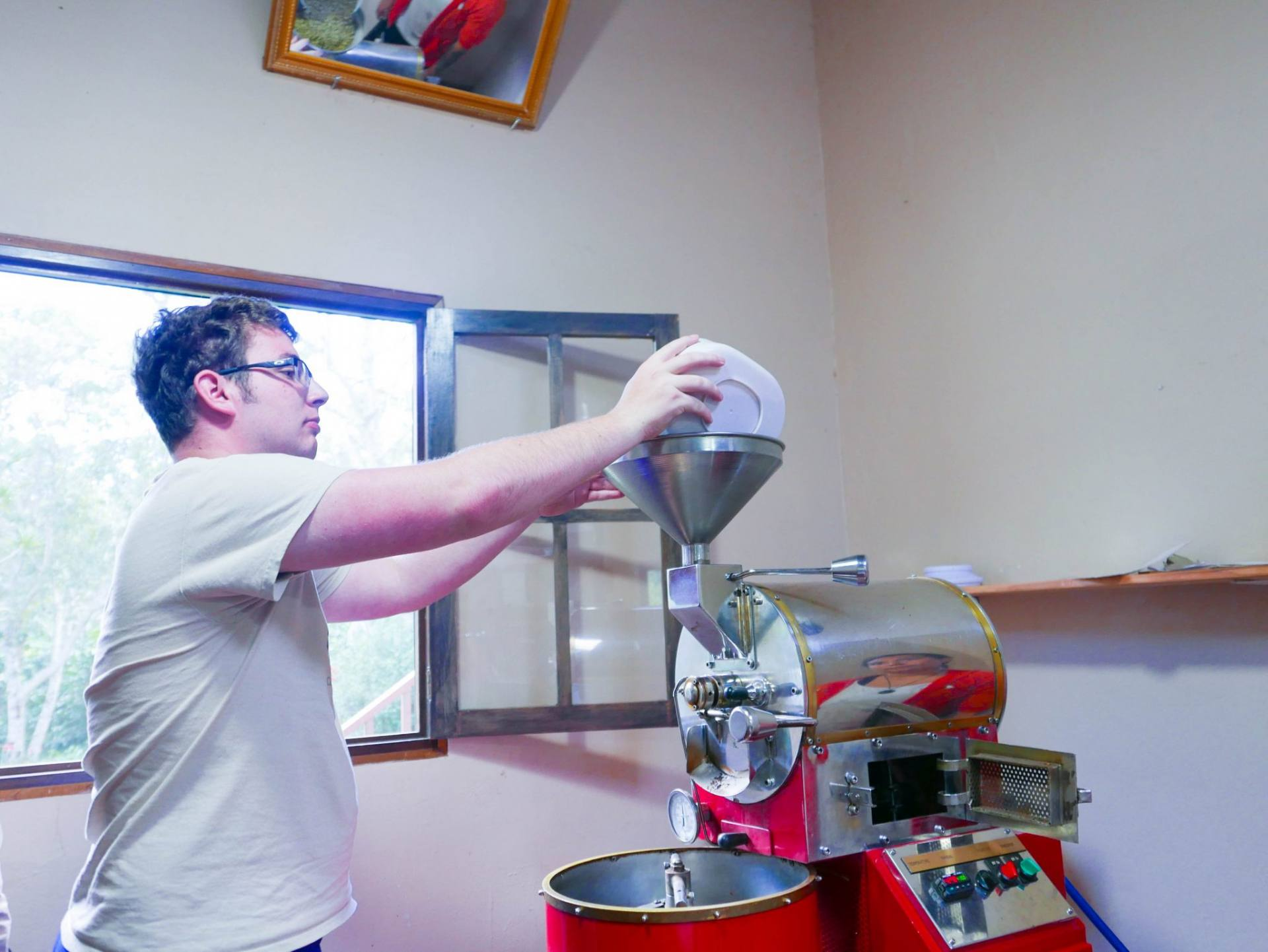 coffee roasting boquete coffee tour