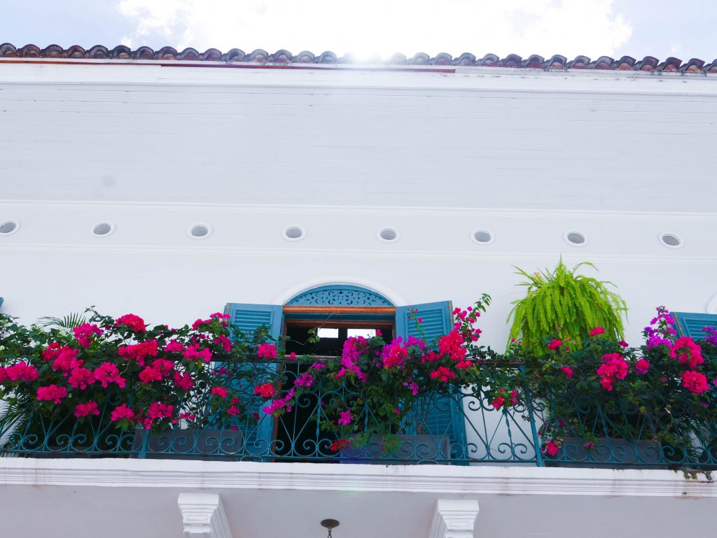 Balcony Flowers Casco Viejo Panama City