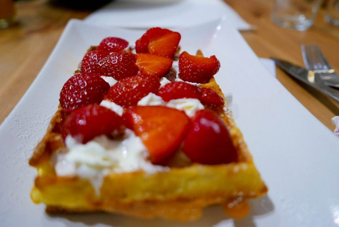 Wolfing Down Waffles at the Brussels Waffle Workshop