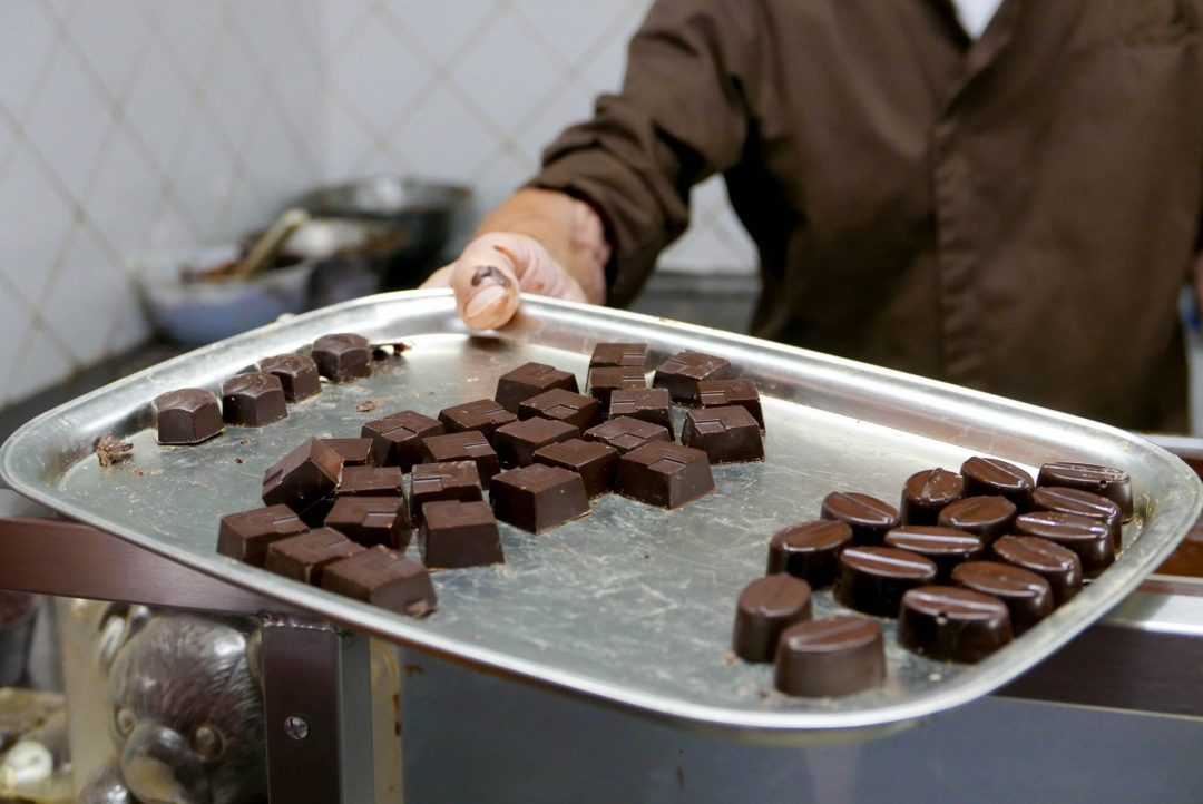 Brussels Museum of Cacao and Chocolate Praline Demonstration Samples