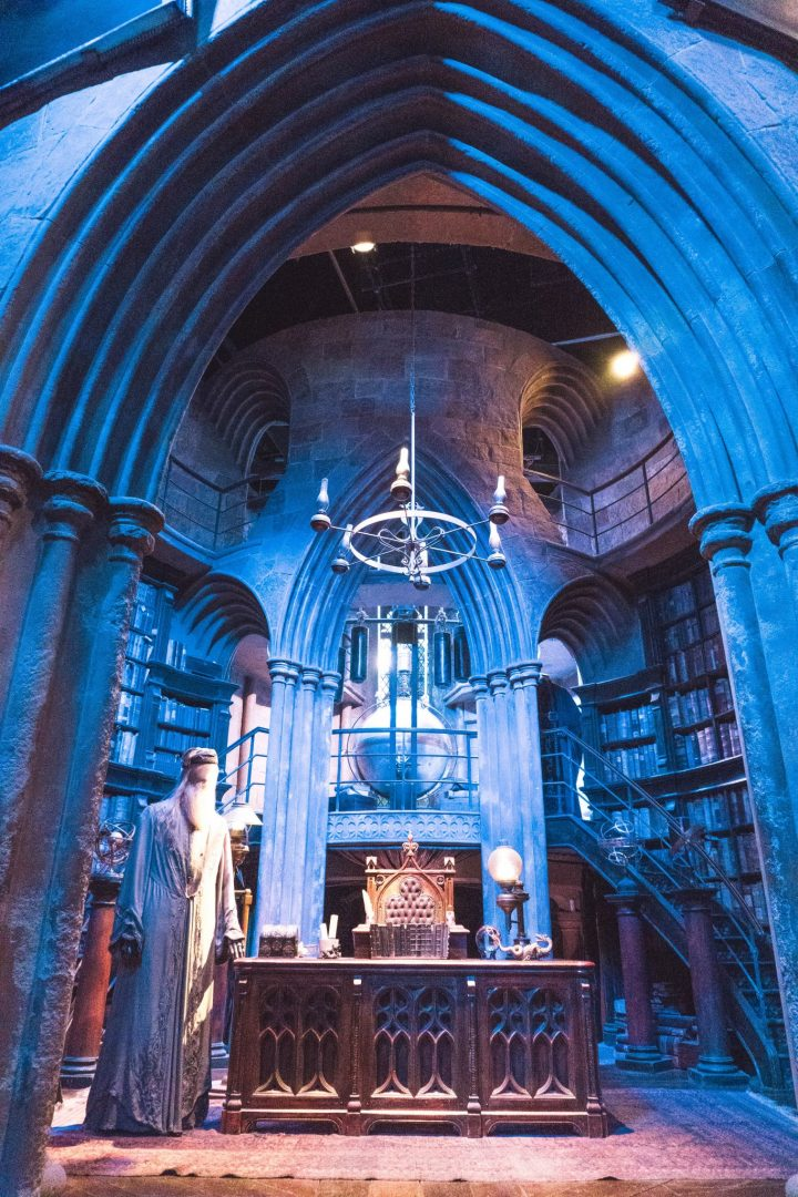 Dumbledore's Office at the Harry Potter Studio Tour London