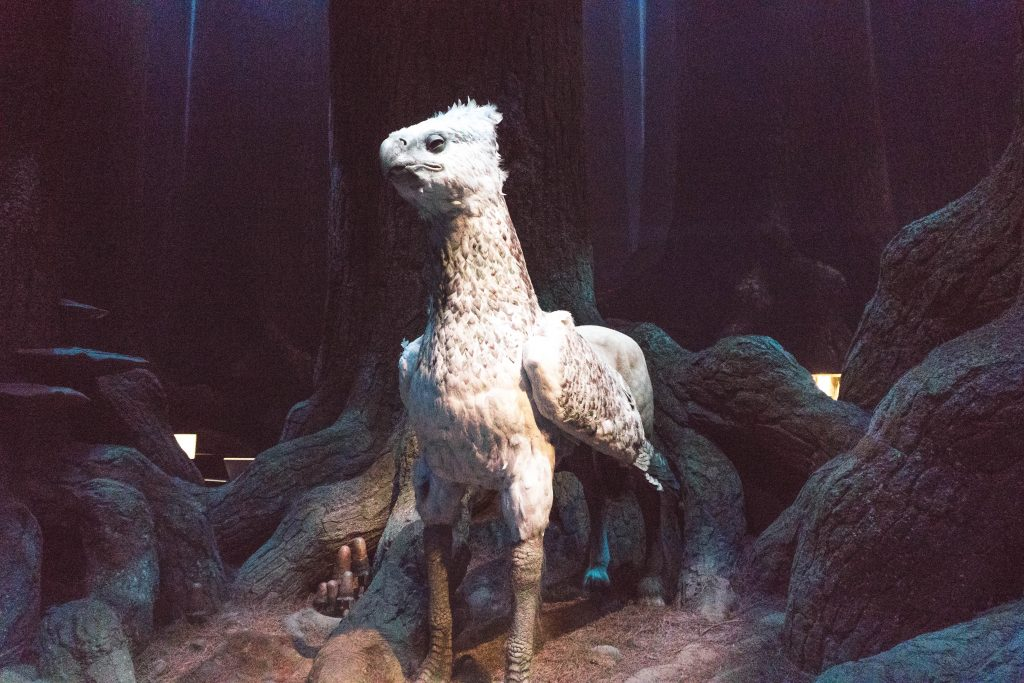 Buckbeak in the Forbidden Forest at the Warner Bros Harry Potter Studio Tour London