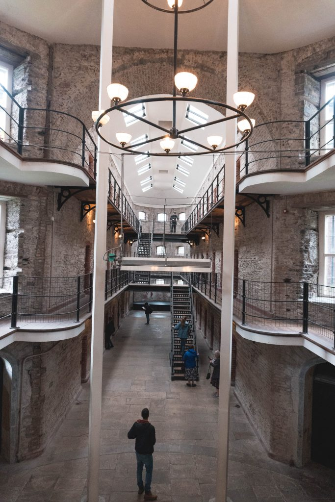 Main room at the Cork City Gaol in Ireland