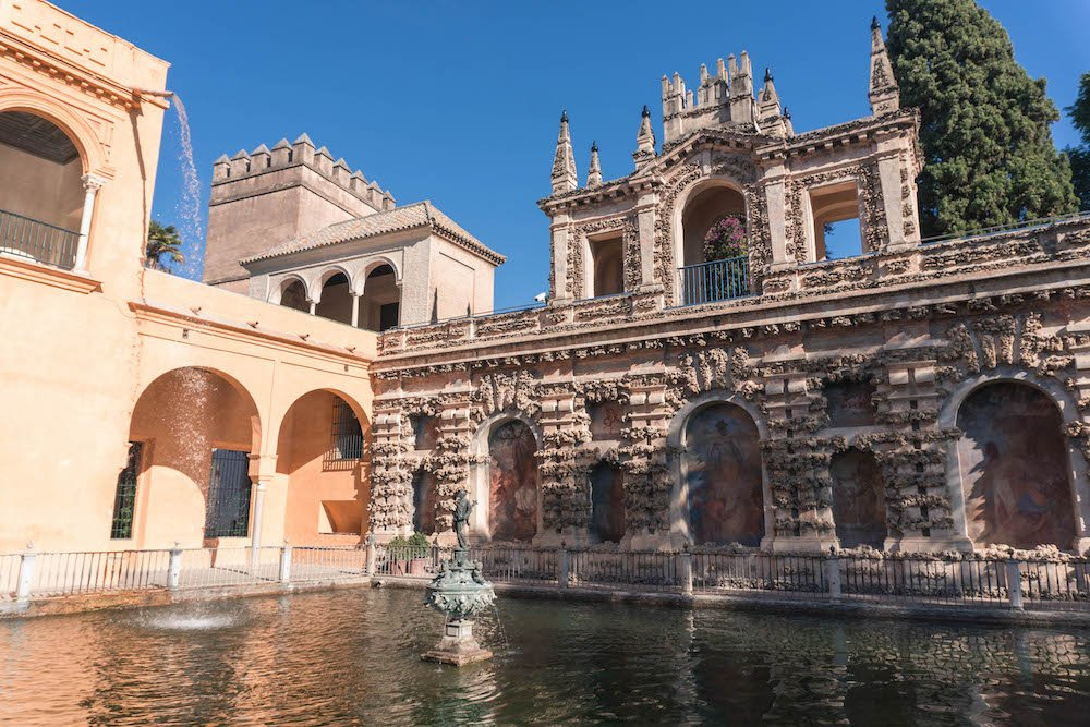 Fountain of Neptune Real Alcazar Seville Spain