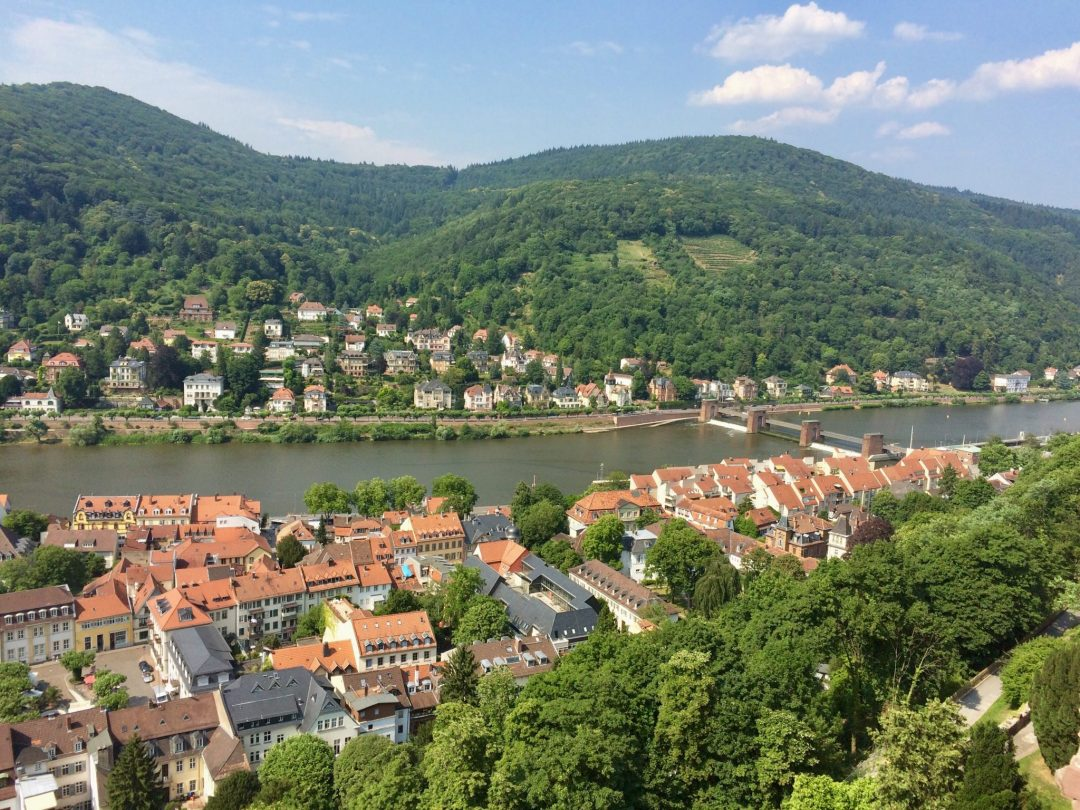 An overhead view of Heidelberg, Germany taken during Rachael's study abroad.