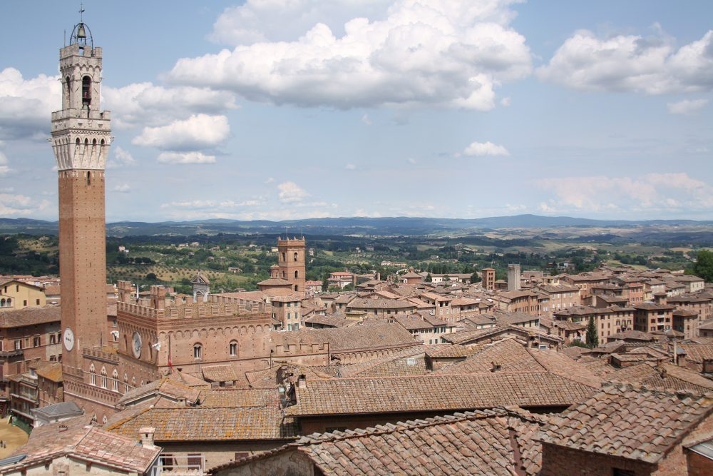 Siena Italy from above