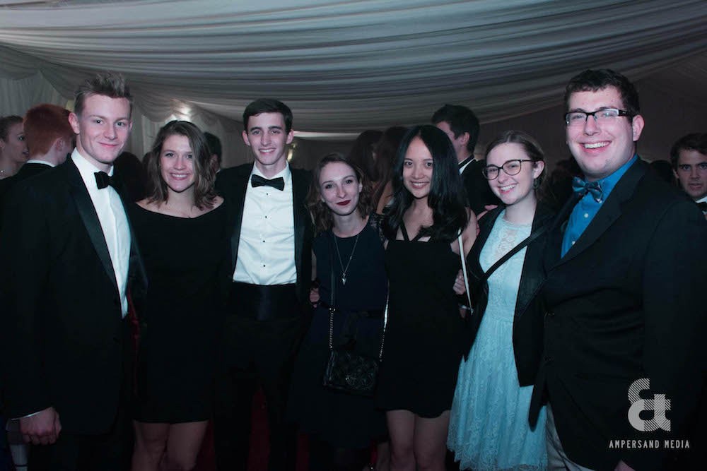 a group of friends in formalwear at Opening Ball, University of St Andrews